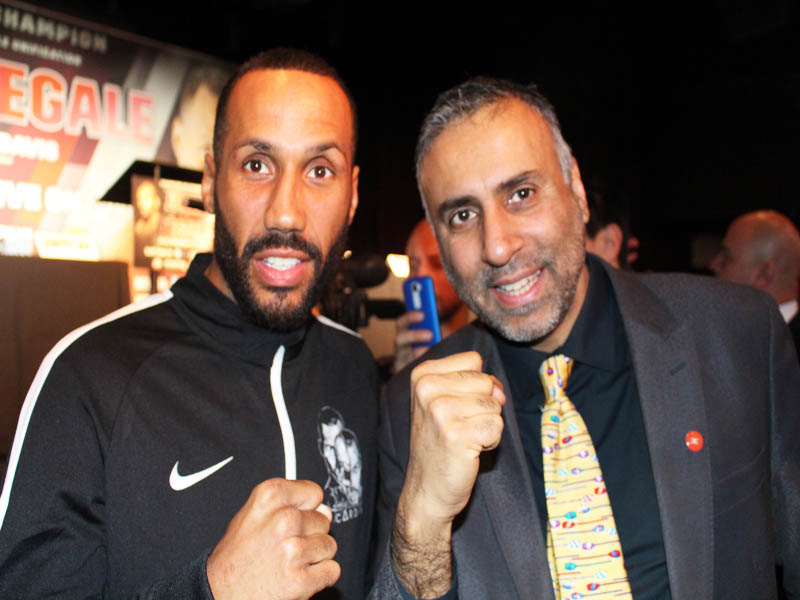Dr.Abbey with James DeGale IBF 168 IBS World Boxing Champ