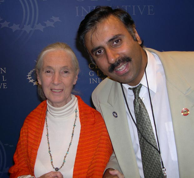 Dr.Abbey with Jane Goodhall,renowned Primatologist