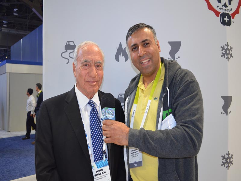 Dr.Abbey with John Shalam Chairman Voxx Int Corp