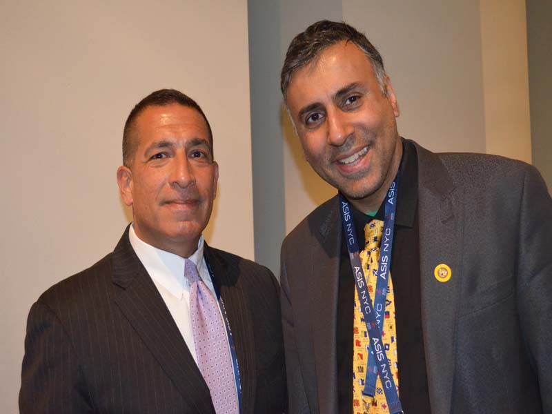 Dr.Abbey with Joseph A. D'Amico Superintendent of the NY State Police