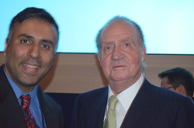 Dr.Abbey with Juan Carlos King of Spain