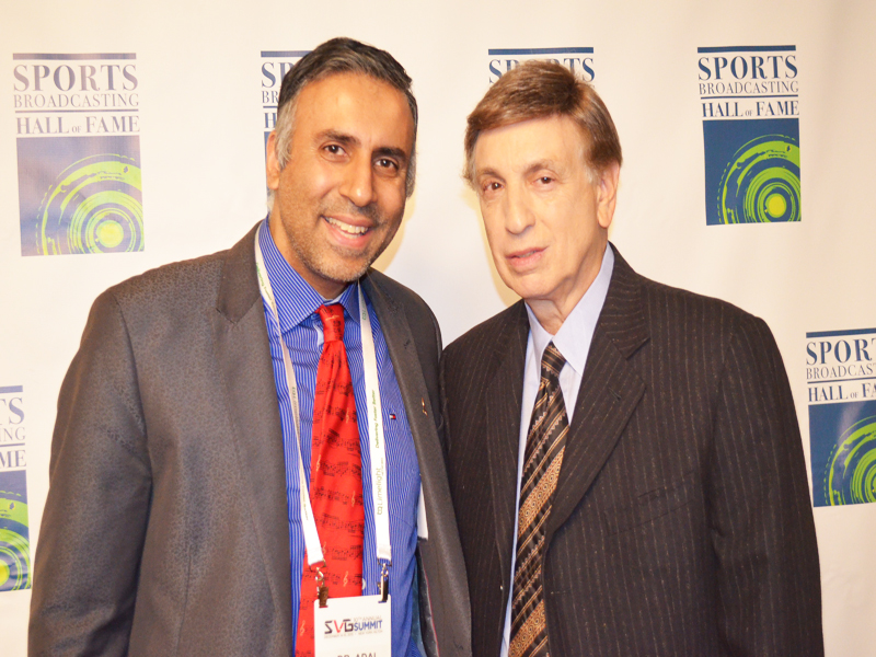 Dr.Abbey with Legandary SportsCaster Marv Albert