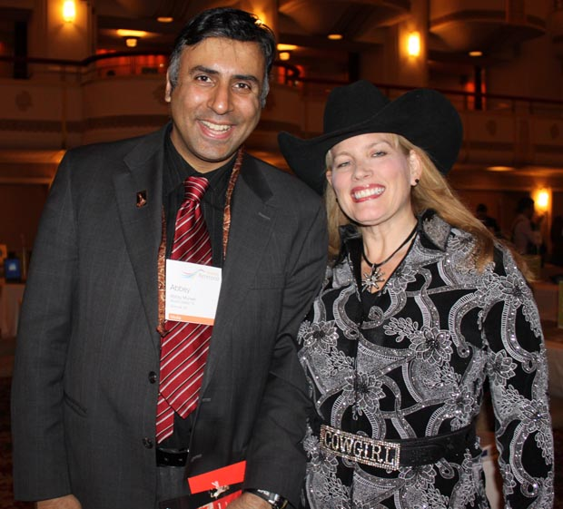 Dr.Abbey with Lindsay Jardine of Calgary Stampede