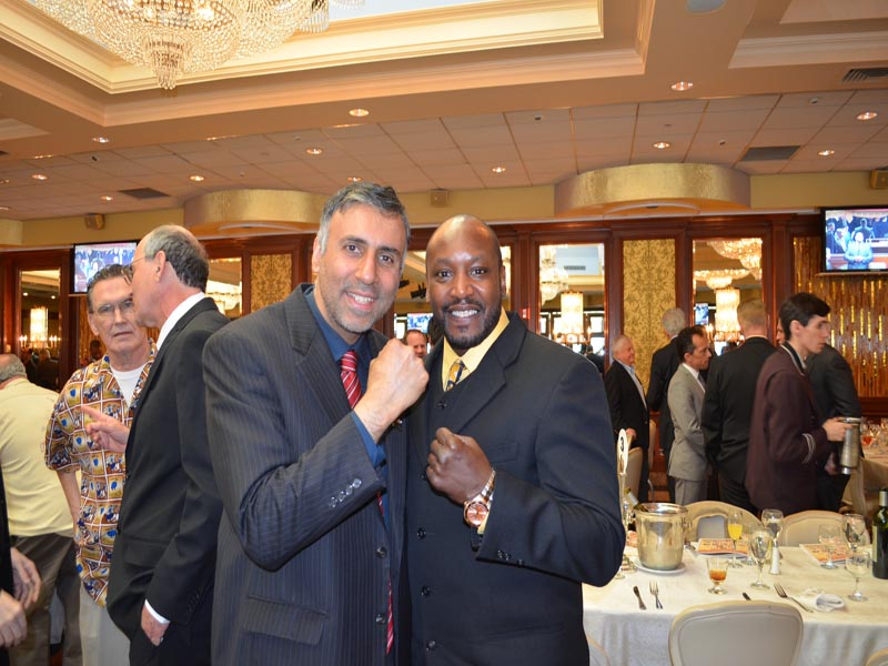 Dr.Abbey with Lonnie Bradley Former World Middleweight Champ