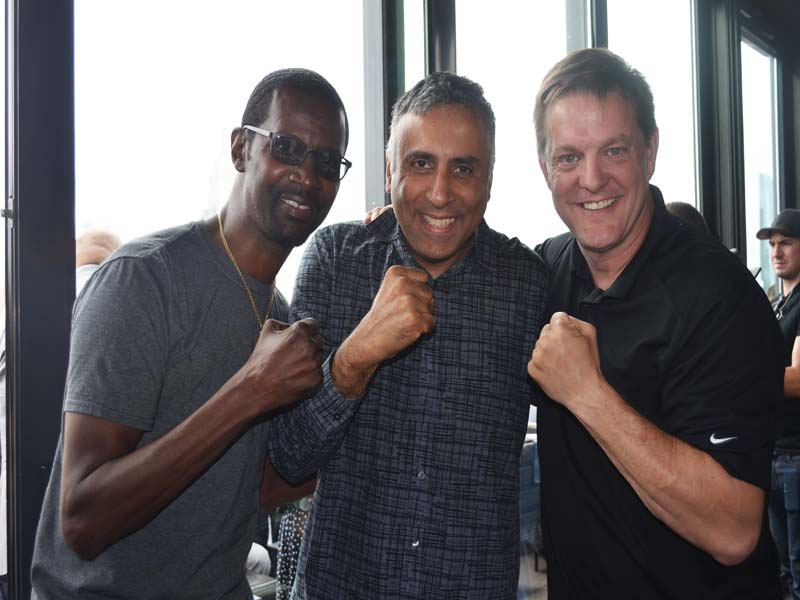 Dr.Abbey with Mark Breland & Jay Deas Trainer of Wilder