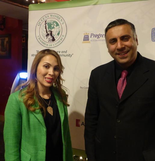 Dr.Abbey with Martha Ramirez President Queens Woman Chamber