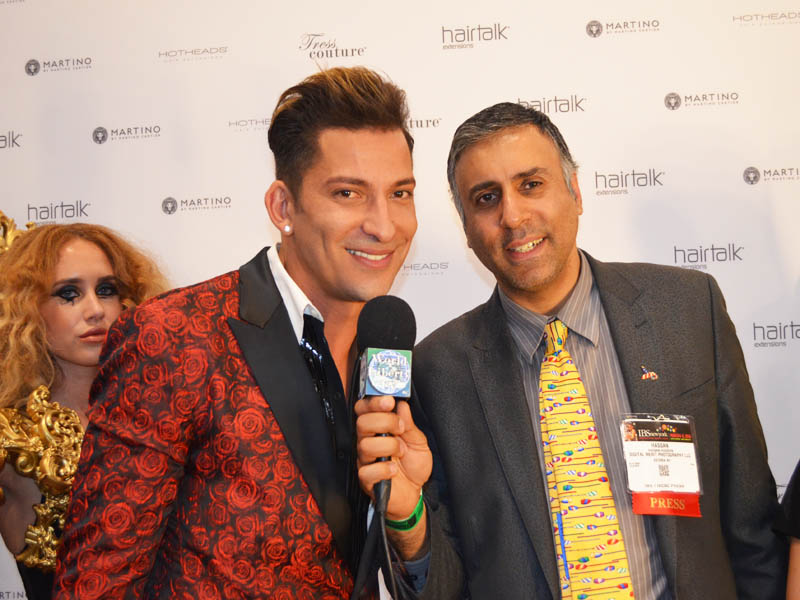 Dr.Abbey with Martino Cartier Global Artistic Designer