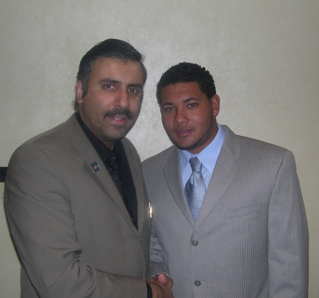 Dr.Abbey with Melky Cabrera,NY Yankee's player