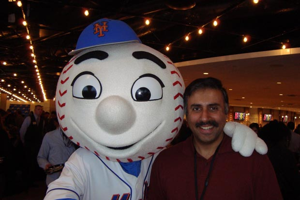 Dr.Abbey with Mets Mascot