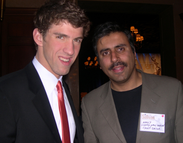 Dr.Abbey with Michael Phelps Olympic Great For Swimming  2009