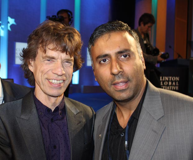 Dr.Abbey with Mick Jagger of the Rolling Stones