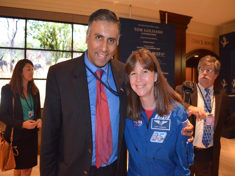 Dr.Abbey with NASA astronaut Cady Coleman