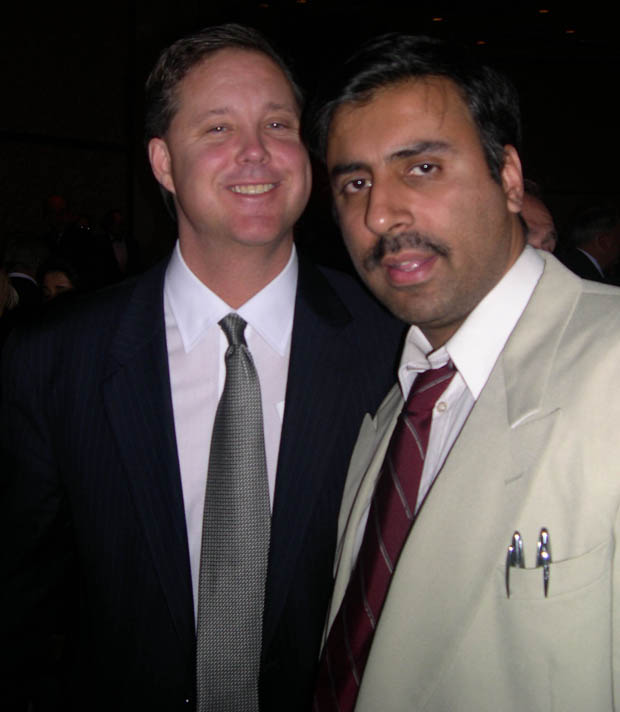 Dr.Abbey with NASCAR Chairman Brian France's