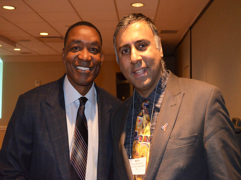 Dr.Abbey with NBA Player Isiah Thomas