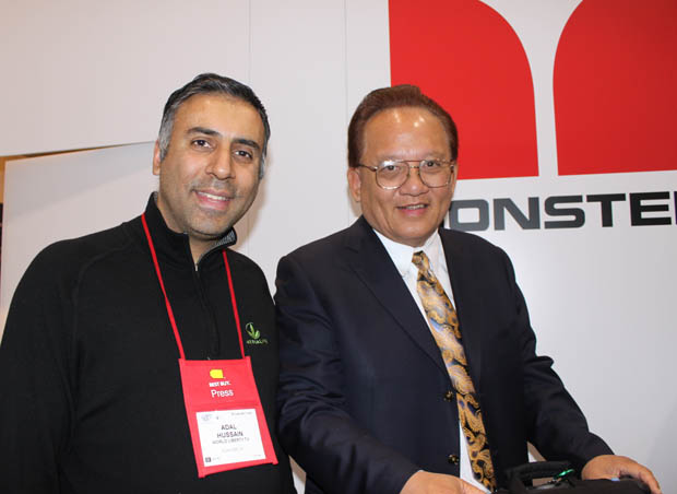 Dr.Abbey with Noel Lee, Founder & President of Monster Cable Products Inc.