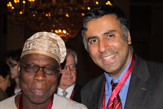 Dr.Abbey with Olusegun Obasanjo former President of the Federal Republic of Nigeria