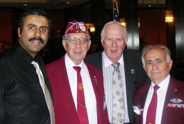 Dr.Abbey with POW Veterans