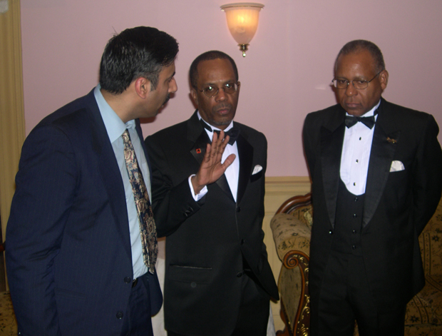 Dr.Abbey with Patrick Manning  Former President of Trindad Tobago