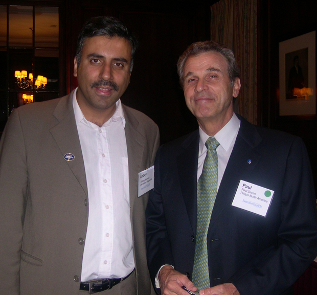 Dr.Abbey with Paul Zeven Former CEO Philips Electronics NA
