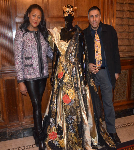Dr.Abbey with Paulette Cleghorn of  Yumi Katsura Couture