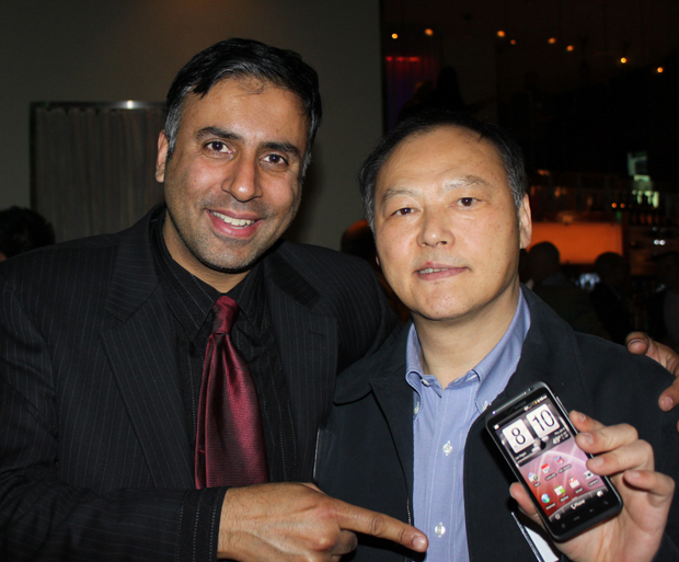 Dr.Abbey with Peter Chou President and CEO of HTC
