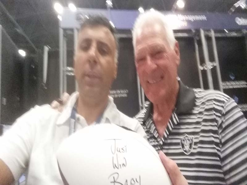 Dr.Abbey with Phil Villapiano Oakland Raiders Superbowl Champion