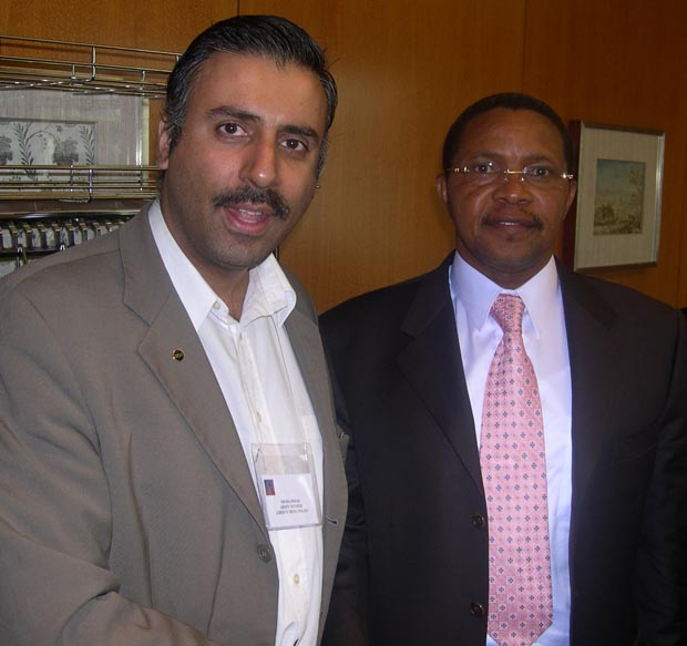 Dr.Abbey   with President Mrisho Kikwete of Republic of Tanzania