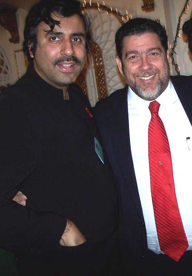 Dr.Abbey with Prime Minister  Ralph Gondalves of SVG