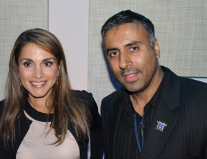 Dr .Abbey with Queen Rania of Jordan