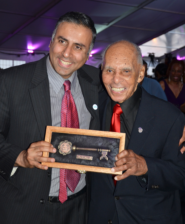 Dr.Abbey with Roscoe C. Brown, Jr.  Tuskegee Airmen