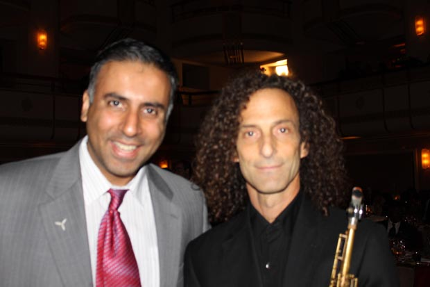 Dr.Abbey with Saxaphone great Kenny G 2009