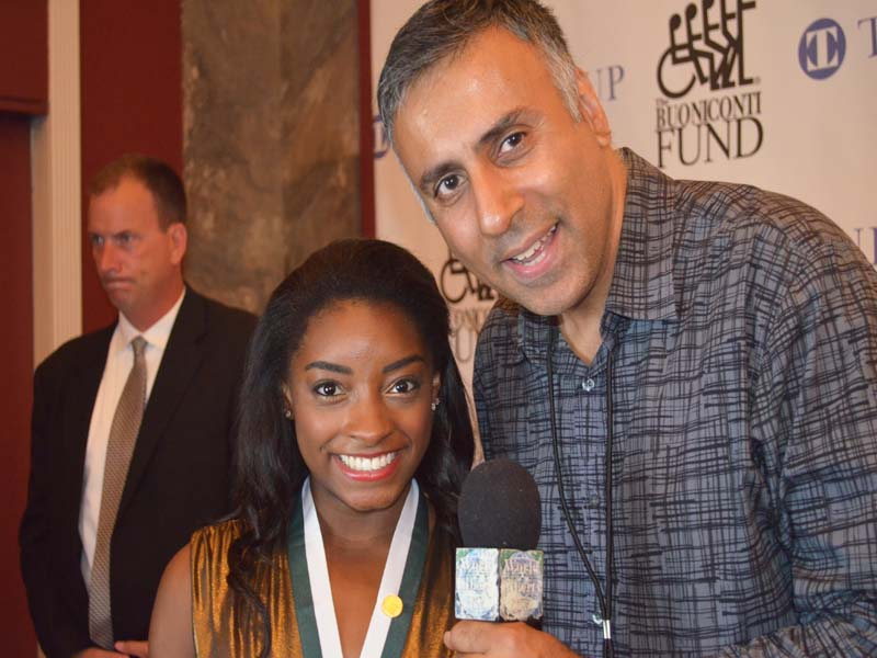 Dr.Abbey with Simone Biles 4 Time Olympic Gold Medal Gymnast
