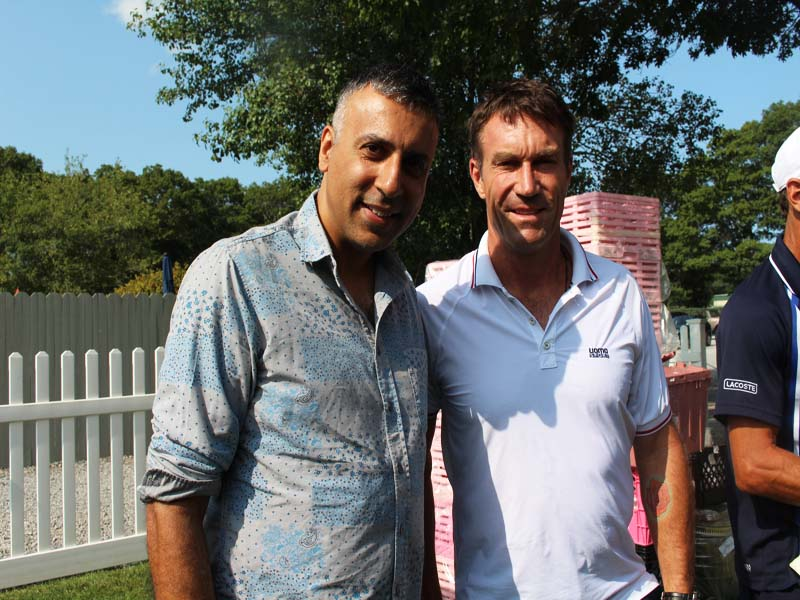 Dr.Abbey with Tennis Player Pat Cash