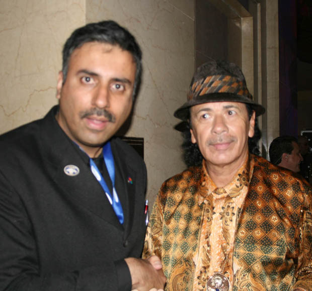 Dr.Abbey  with The Great Carlos Santana