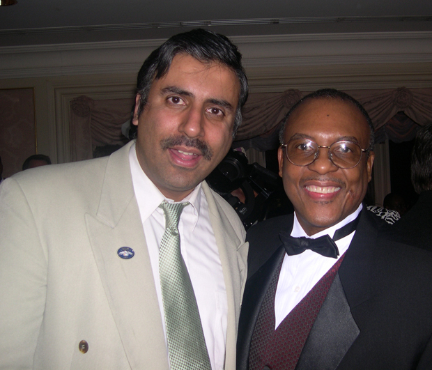 Dr.Abbey with Timothy Marshall President Jamaica Resource Center