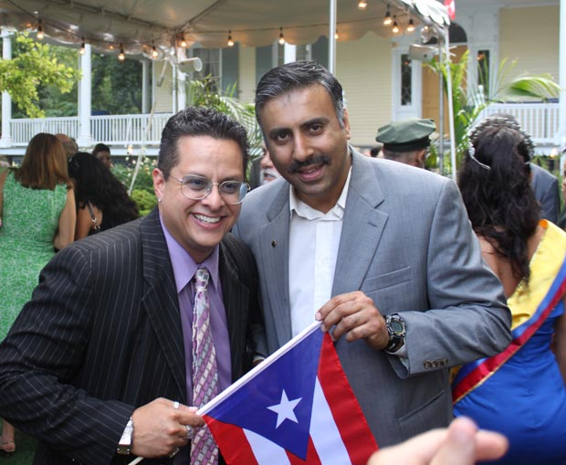 Dr.Abbey with Tito Puenta Jr ,Entertainer