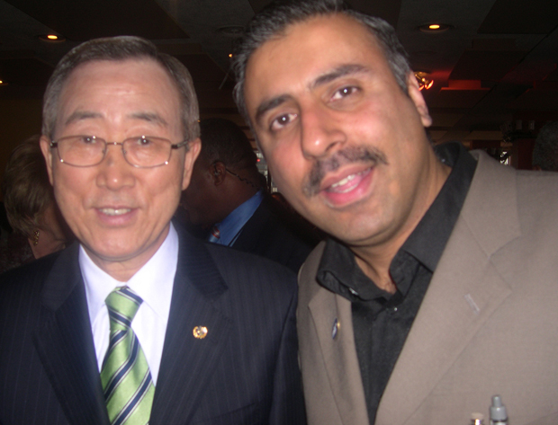 Dr.Abbey with UN Secetary General Ban-KI Moon 2009