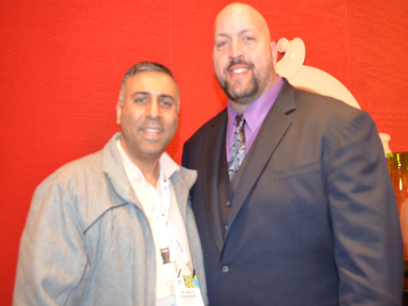 Dr.Abbey with WWE Wrestler Big Show