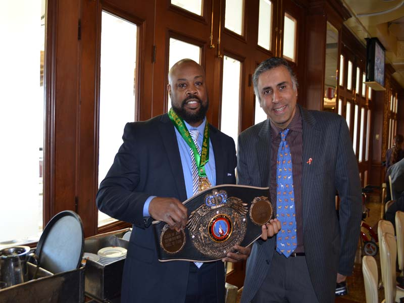 Dr.Abbey with World Boxing ChampionAaron Davis