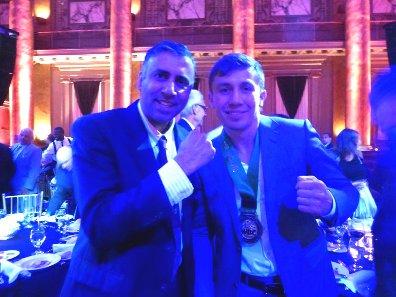 Dr.Abbey with World Middleweight Boxing Champ Gennady Golovkin