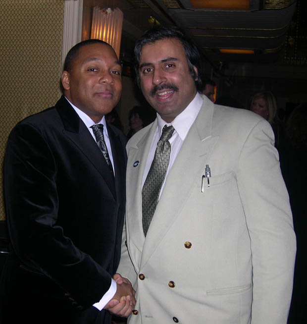 Dr.Abbey with Wynton Marsalis ,Jazz Great