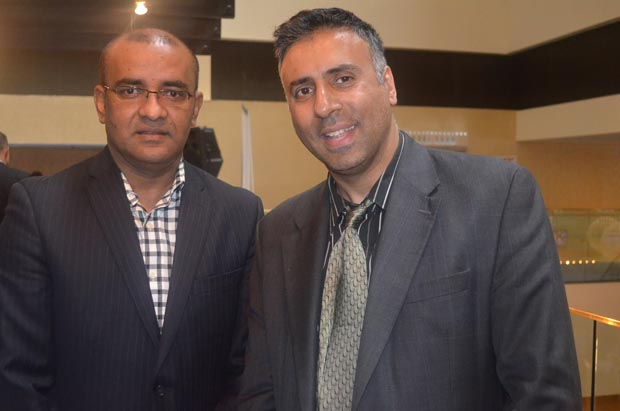 Dr.Abbey with former president of the Republic of Guyana Dr. Bharrat Jagdeo