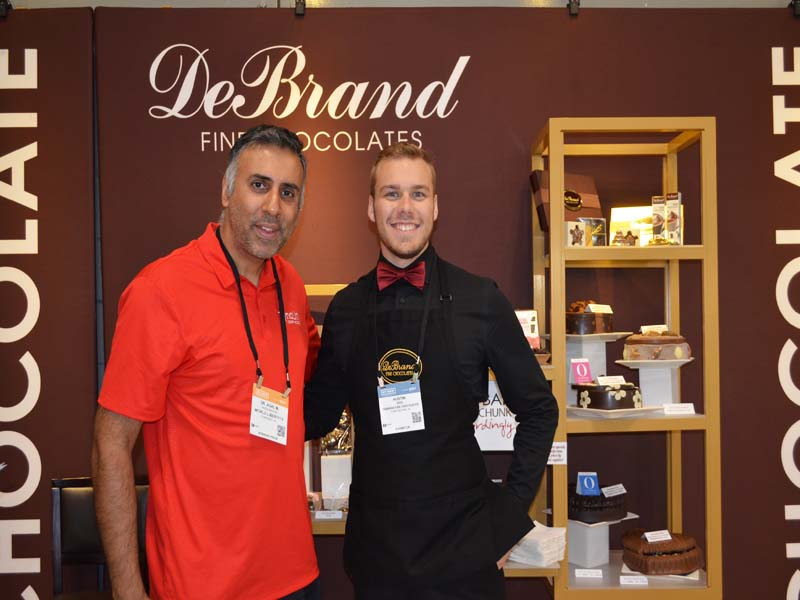 Dr.Abbey with Austin Bird of DeBrand Fine Chocolates