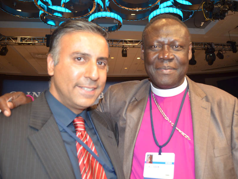 Dr.Abbey with Bishop Elias Taban, National Bishop