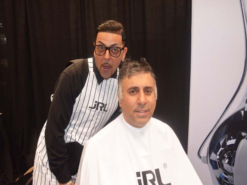 Dr.Abbey with Carlos Creative Dir from JRL Professional