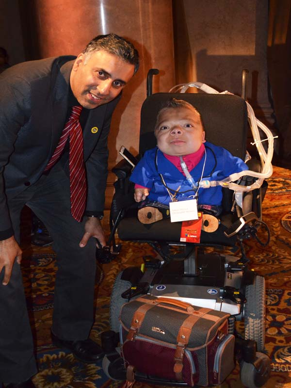 Dr.Abbey with Christopher Alvarez Thanatophoric dysplasia sufferer