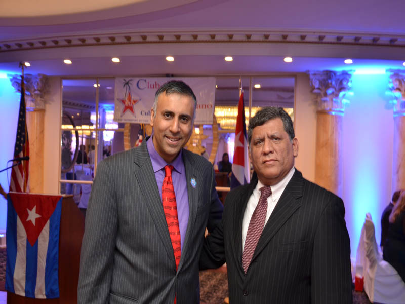 Dr.Abbey with Consulate Gen of El Salvador Miguel Alas Sevillano