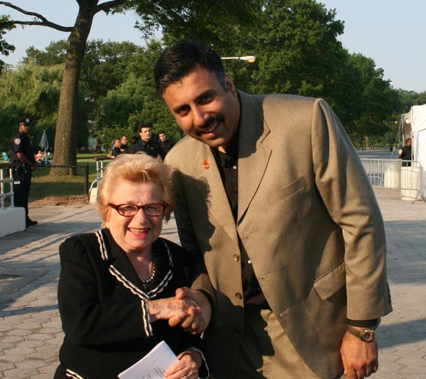 Dr.Abbey with Dr Ruth Westheimer,AKA Sex Dr,