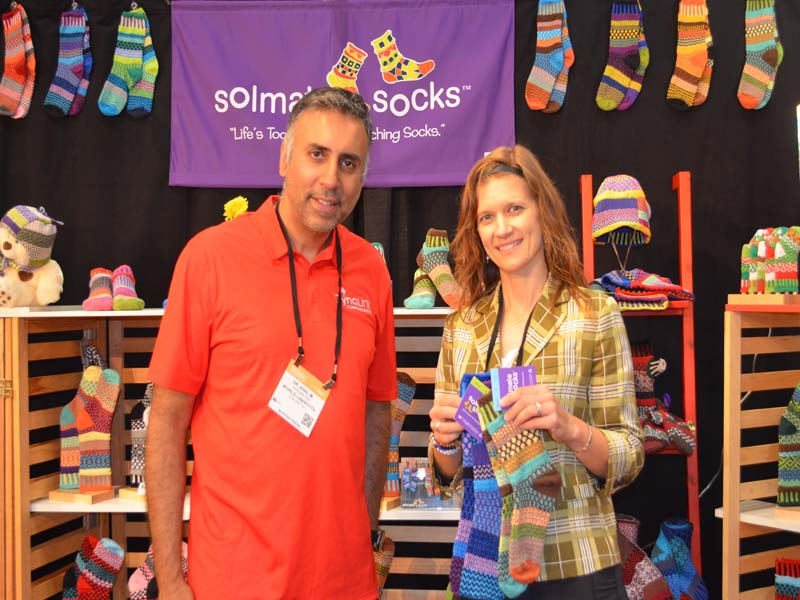 Dr.Abbey with Lori Lieske of Solomate Socks
