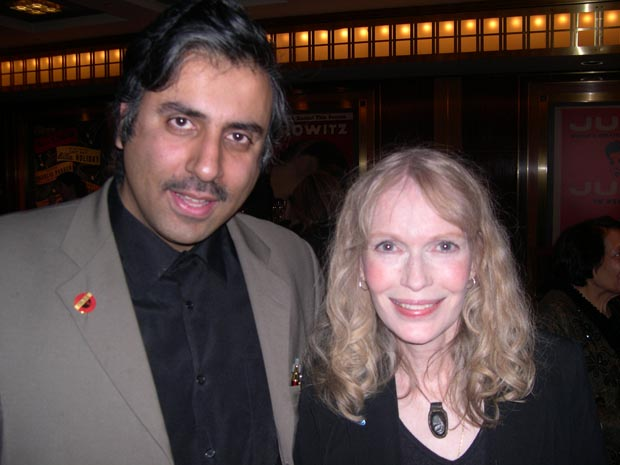 Dr.Abbey with  Mia farrow Charity work with Fund4Darfur